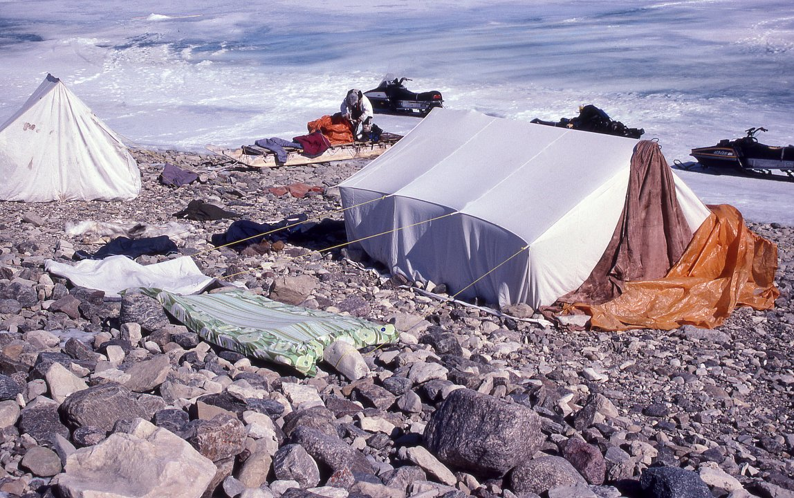 And rocks are still placed around the base of the tent to hold it down (the poles having been shortened to provide a flap). & III.4: INUIT CLOTHING/SHELTER 4. Summer Shelters ~ People of the ...