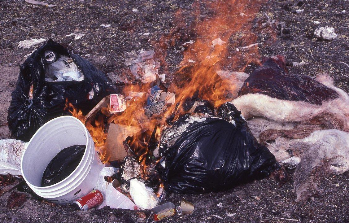 Burning Garbage Dump Burning Garbage at Hunting