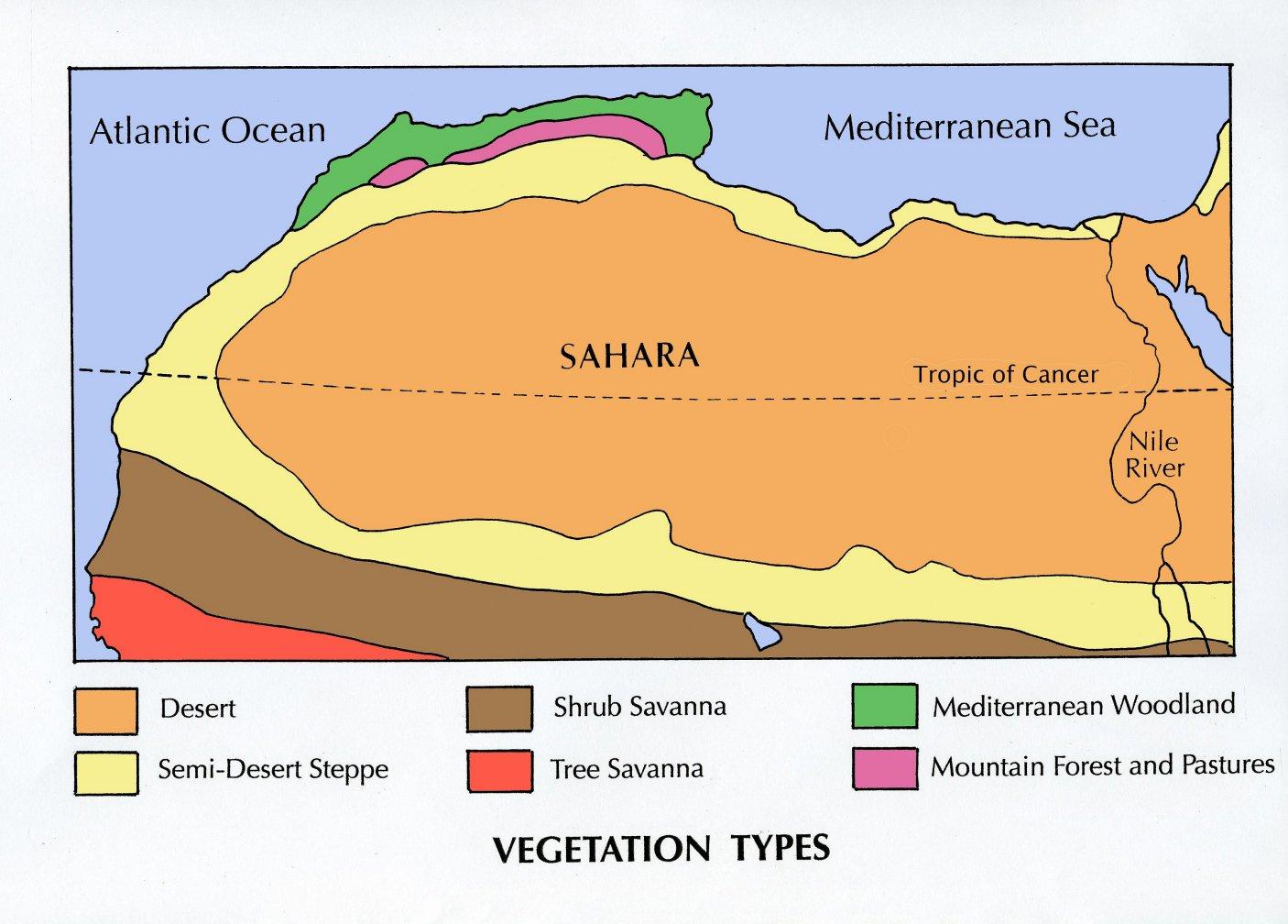 SAHARA PHYSICAL ENVIRONMENT Landforms - Map of egypt landforms